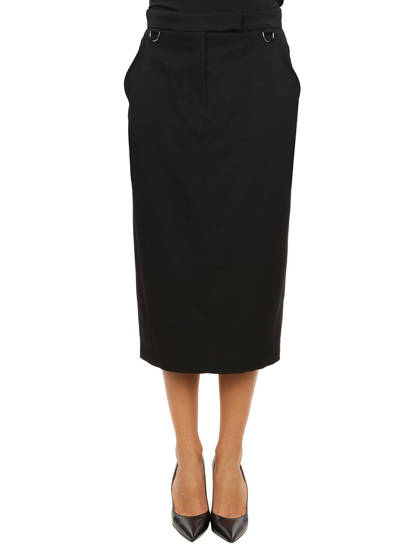 Max Mara Mare Virgin Wool Pencil Skirt