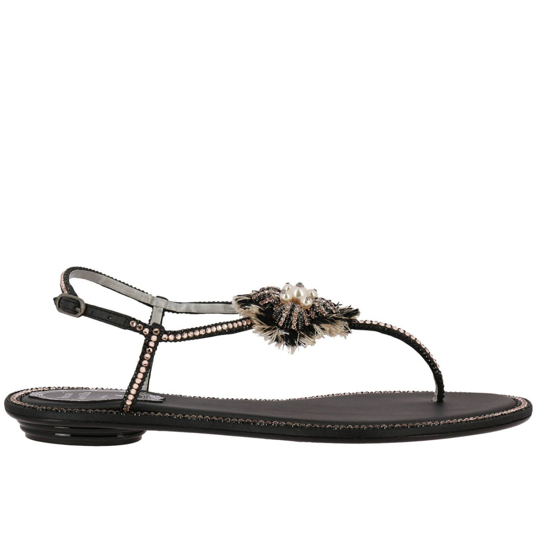 a386c5278aa Rene Caovilla Flat Sandals Shoes Women Rene Caovilla