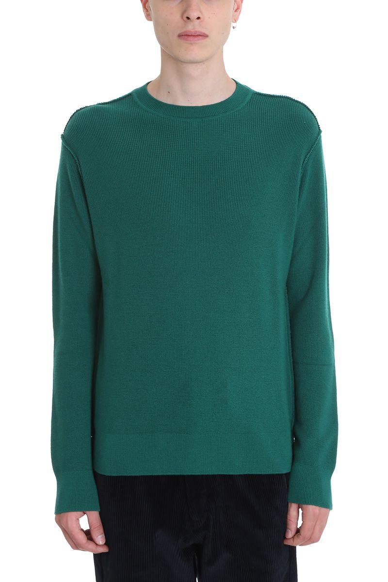 Maison Flaneur Green Wool/cashmere Sweater