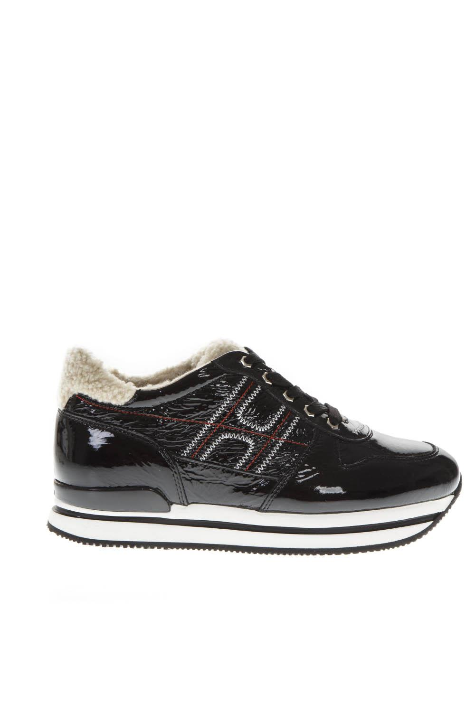 Hogan H222 Black Patent Leather Sneakers