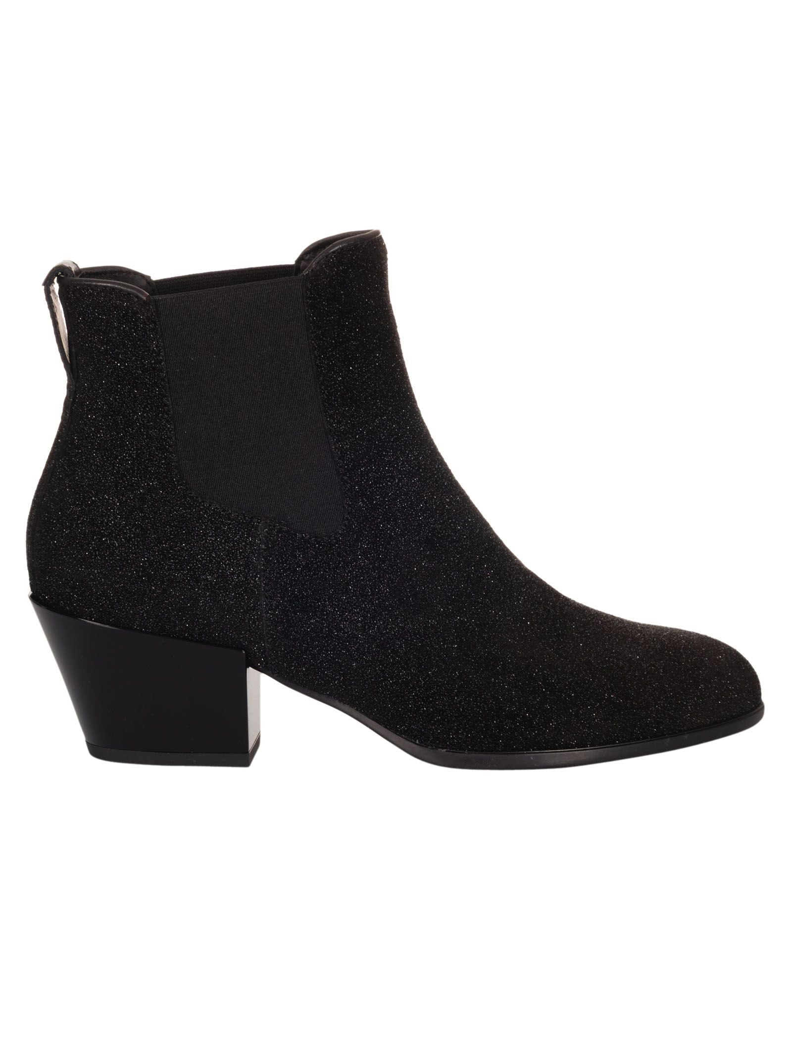 Hogan H401 Glitter Ankle Boots