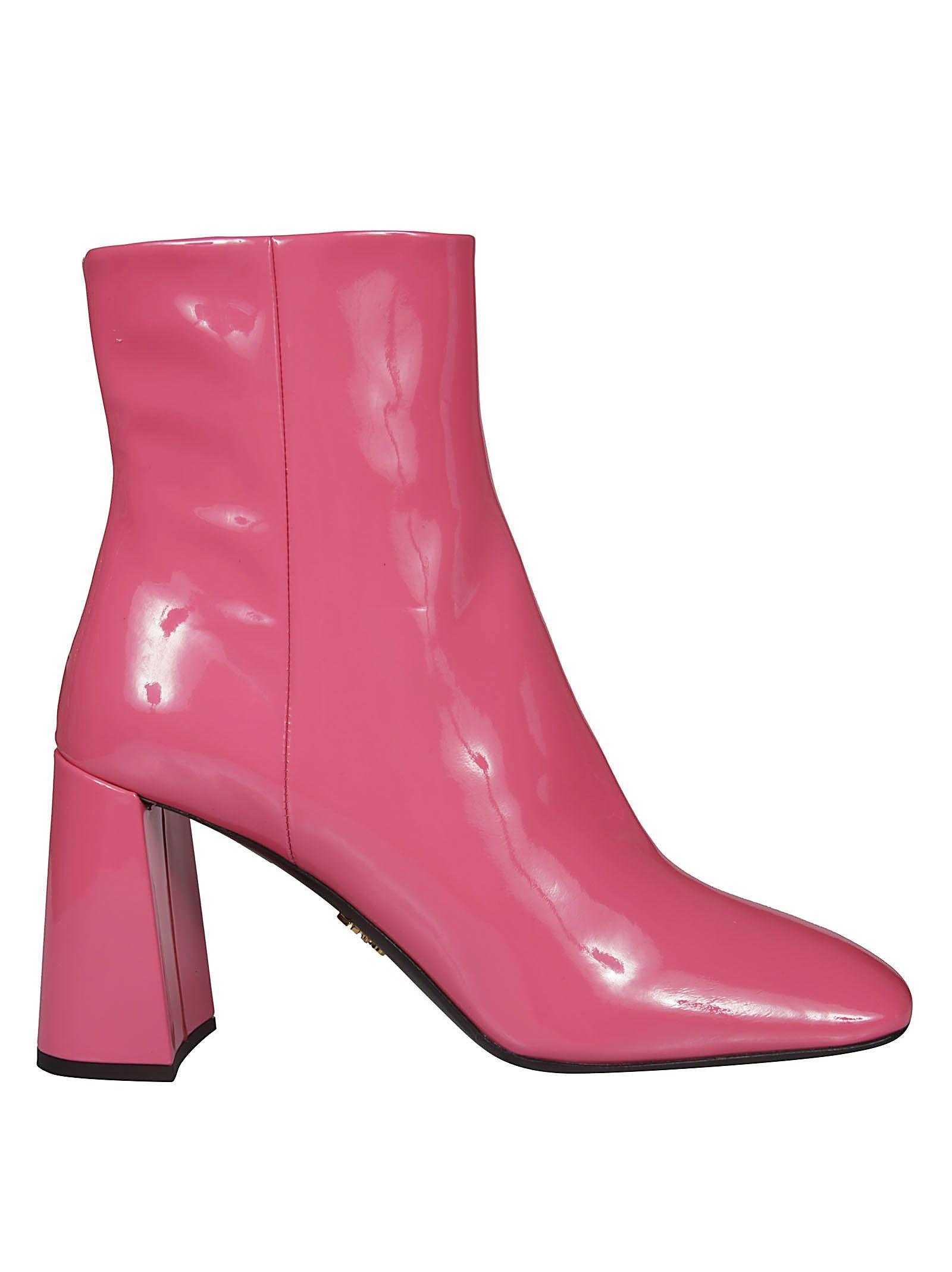prada boots pink