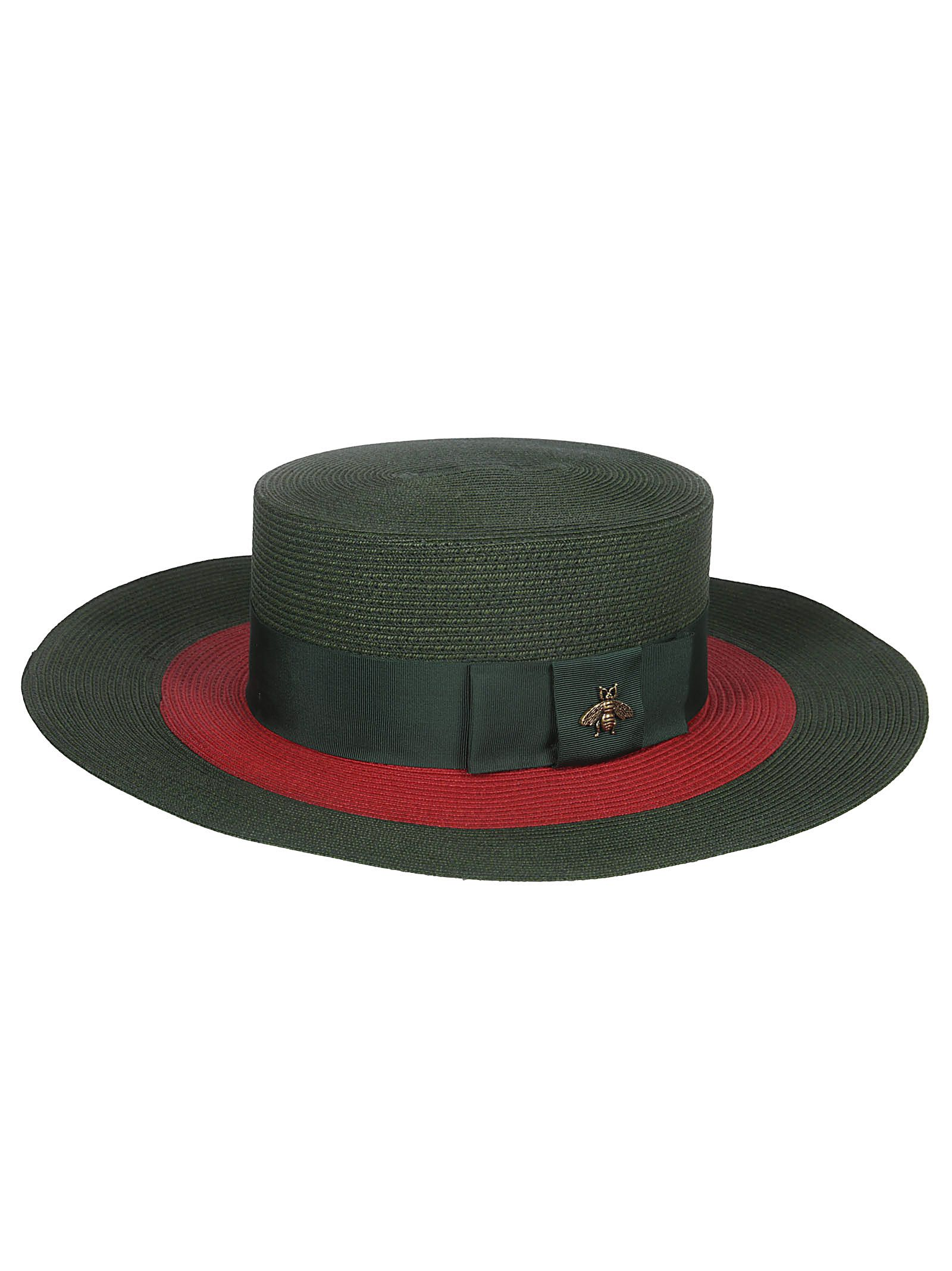 Gucci Green And Red Ribbon Bee Stripe Hat In 3066 Green  ae59a5777d4