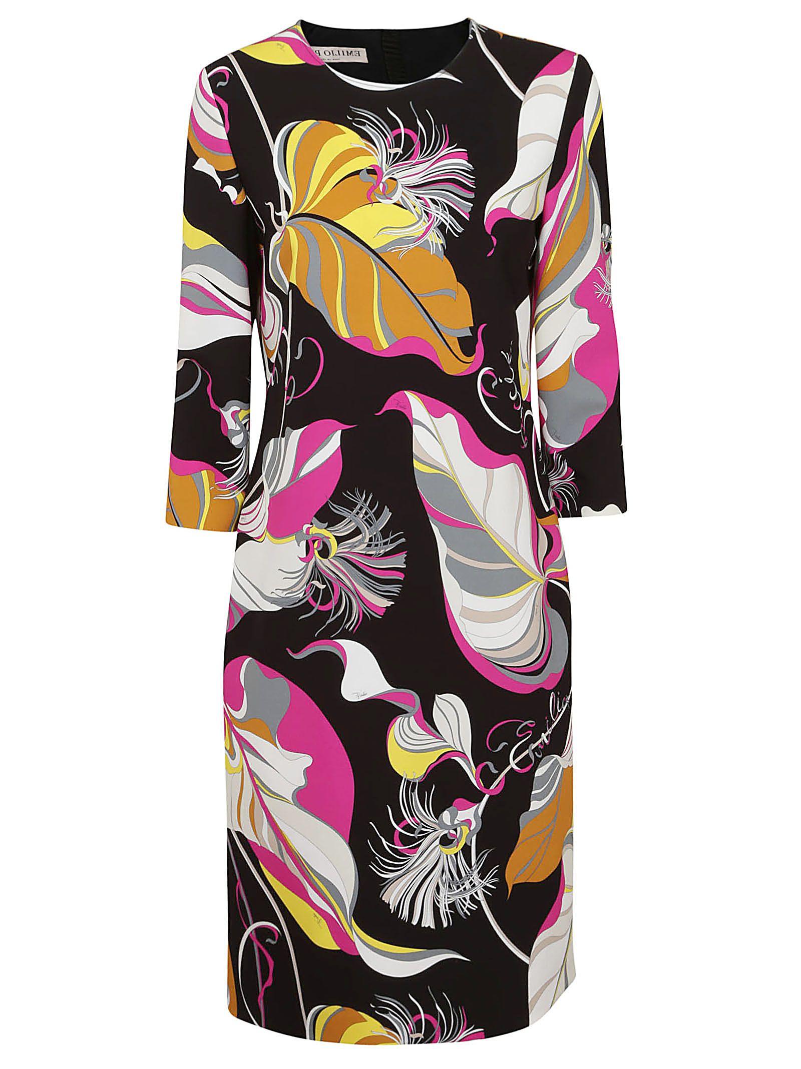 Emilio Pucci Leafy Print Dress