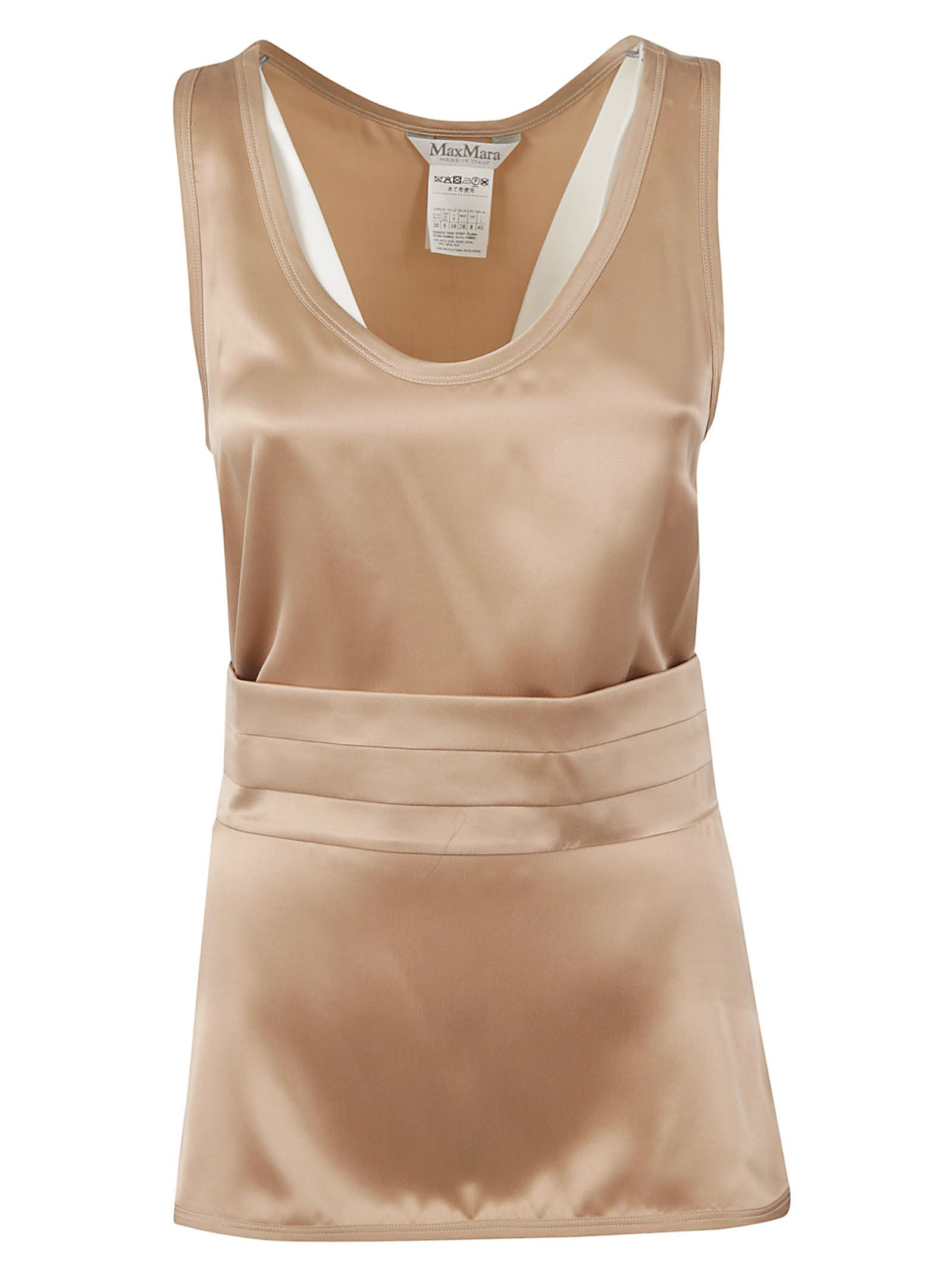 Max Mara Sleeveless Shift Blouse