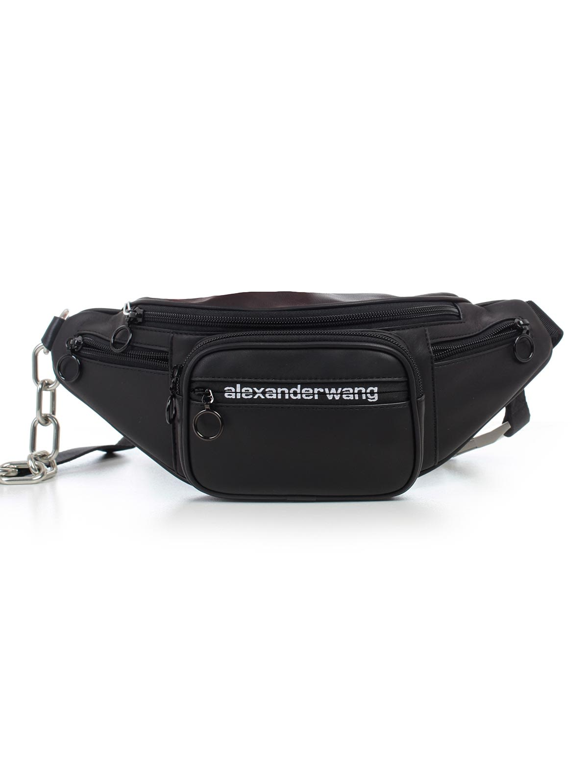 d839f7f627b Alexander Wang Mini Attica Leather Chain Convertible Belt Bag In Black 001