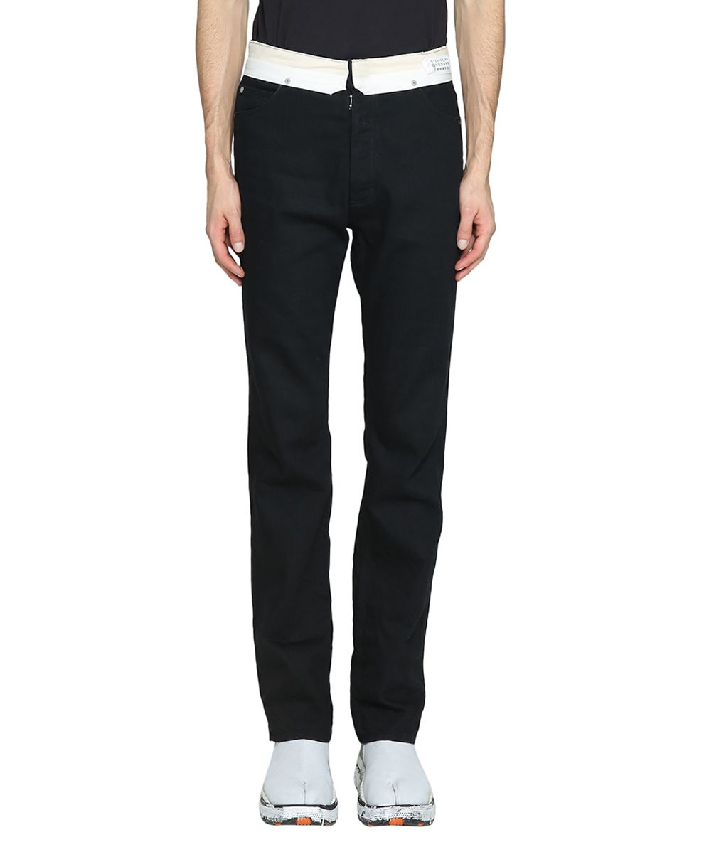 Maison Margiela Black Cotton Denim Jeans