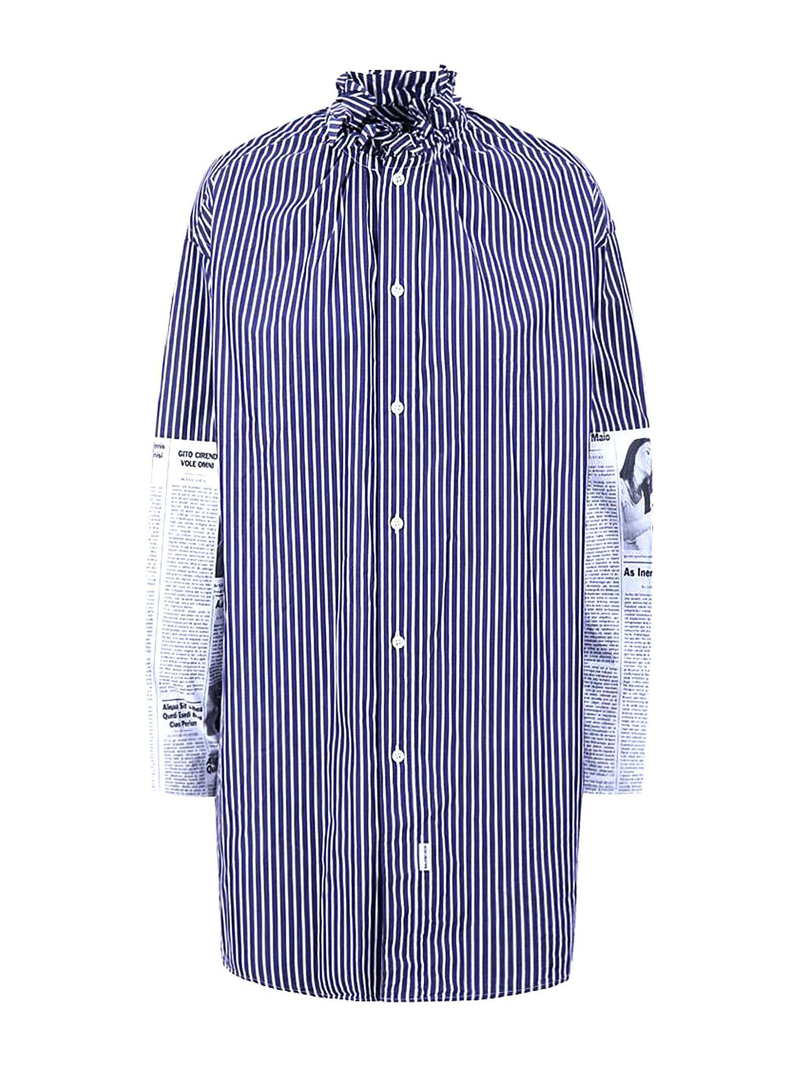 Balenciaga Patch Navy/white Shirt