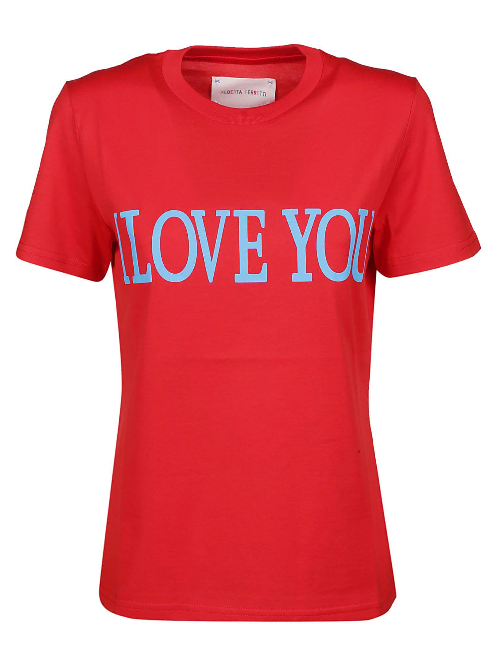 Alberta Ferretti T-shirts I LOVE YOU T-SHIRT