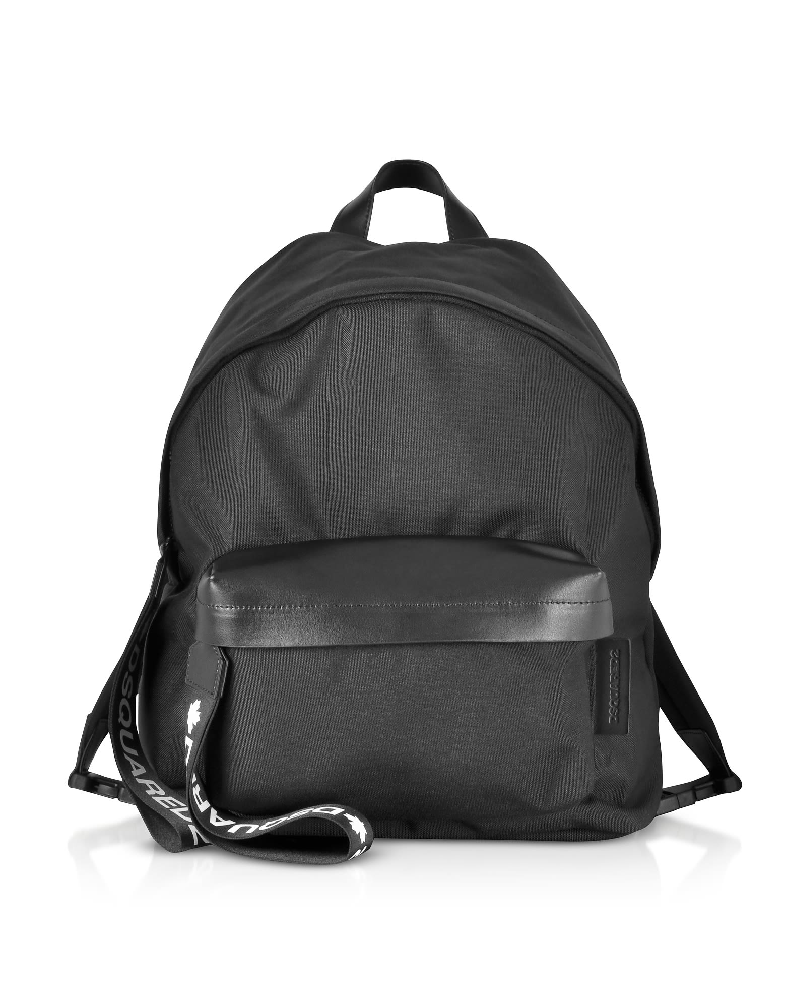 Dsquared2 Black Nylon And Leather Signature Backpack