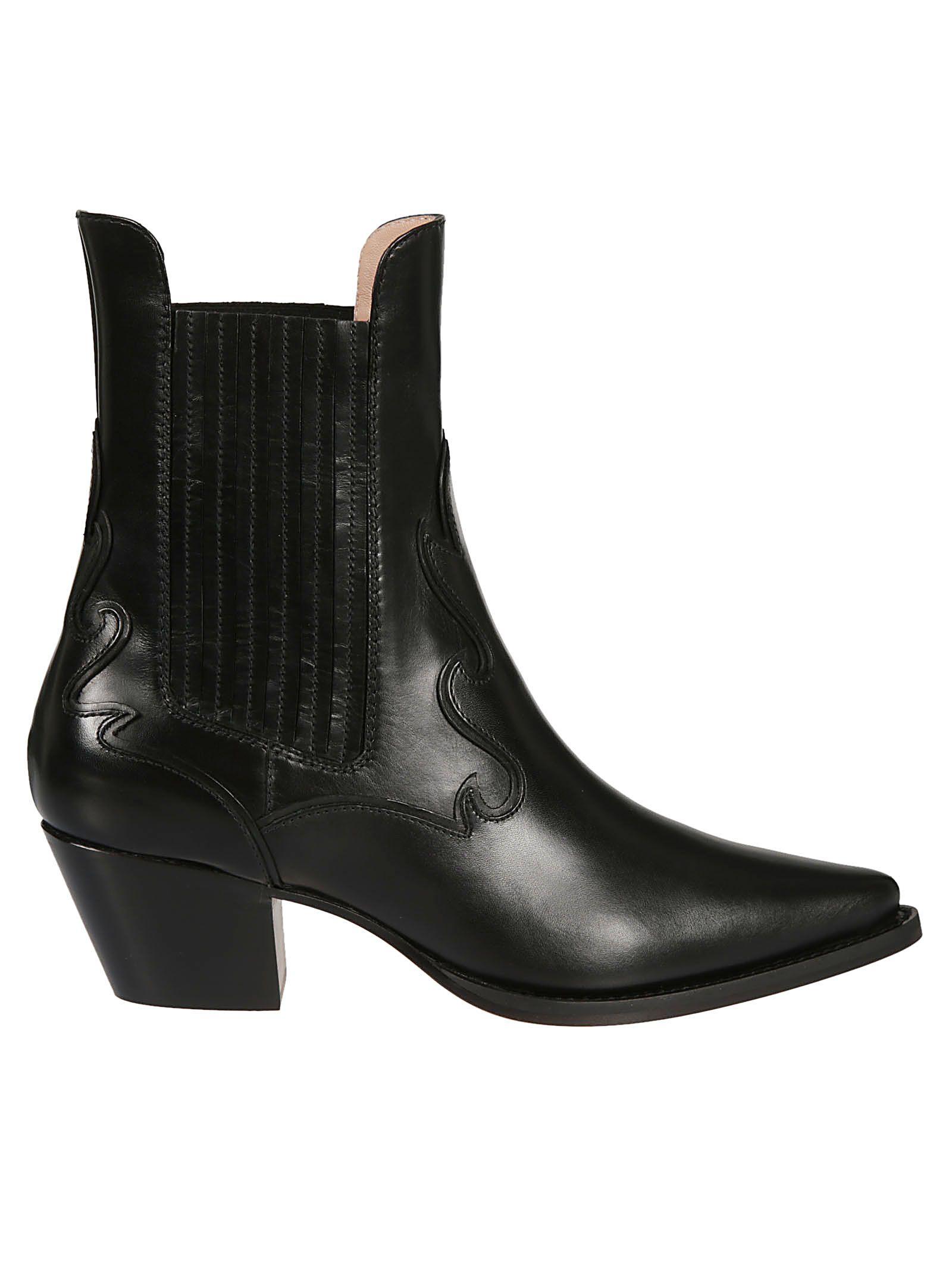 alberta ferretti -  Western Ankle Boots