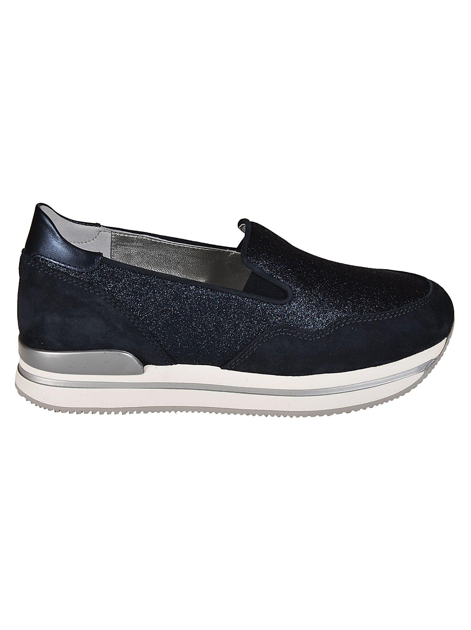 Hogan Glittered Platform Slip-on Sneakers