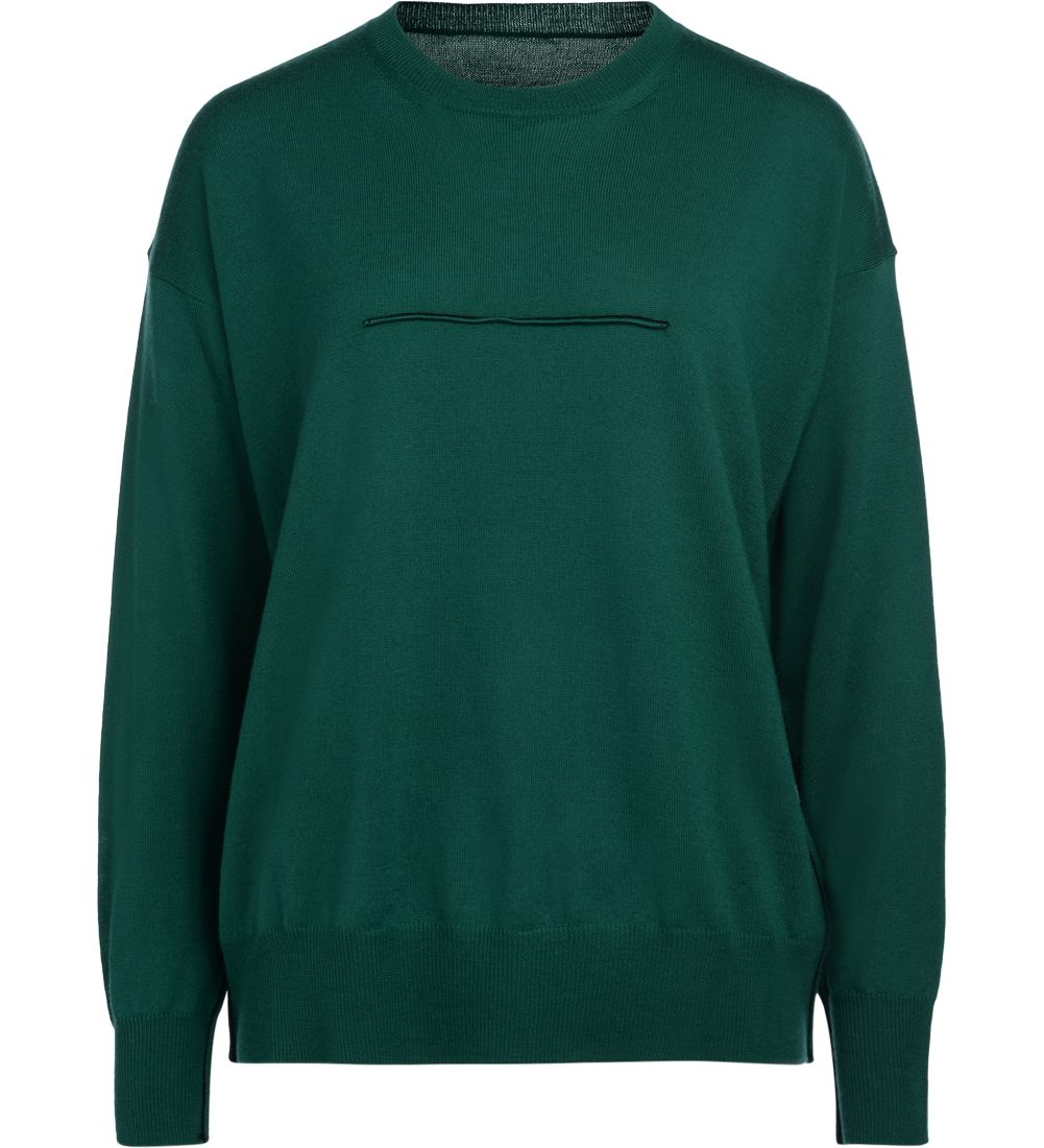 Mm6 Maison Margiela Green Wool Jumper