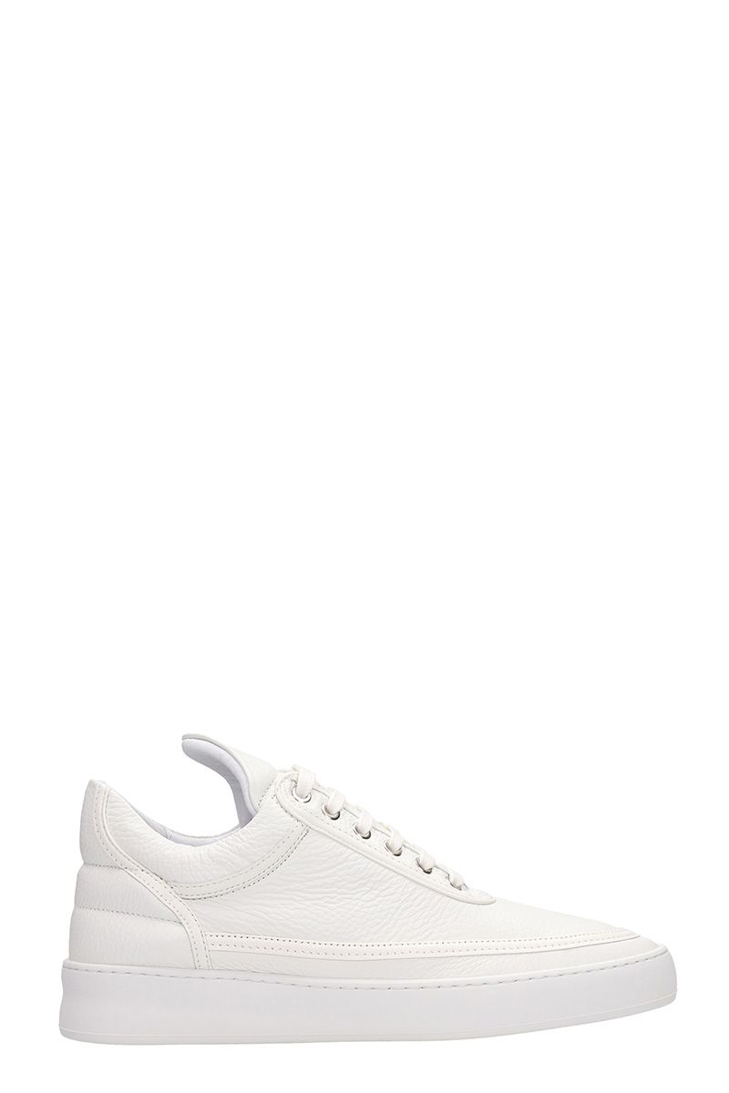 Filling Pieces White Leather Sneakers