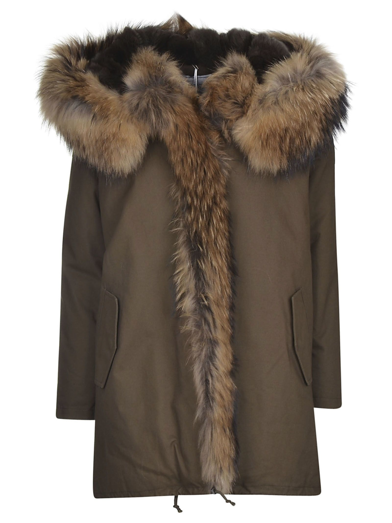 Forte Couture Fur Trimmed Parka