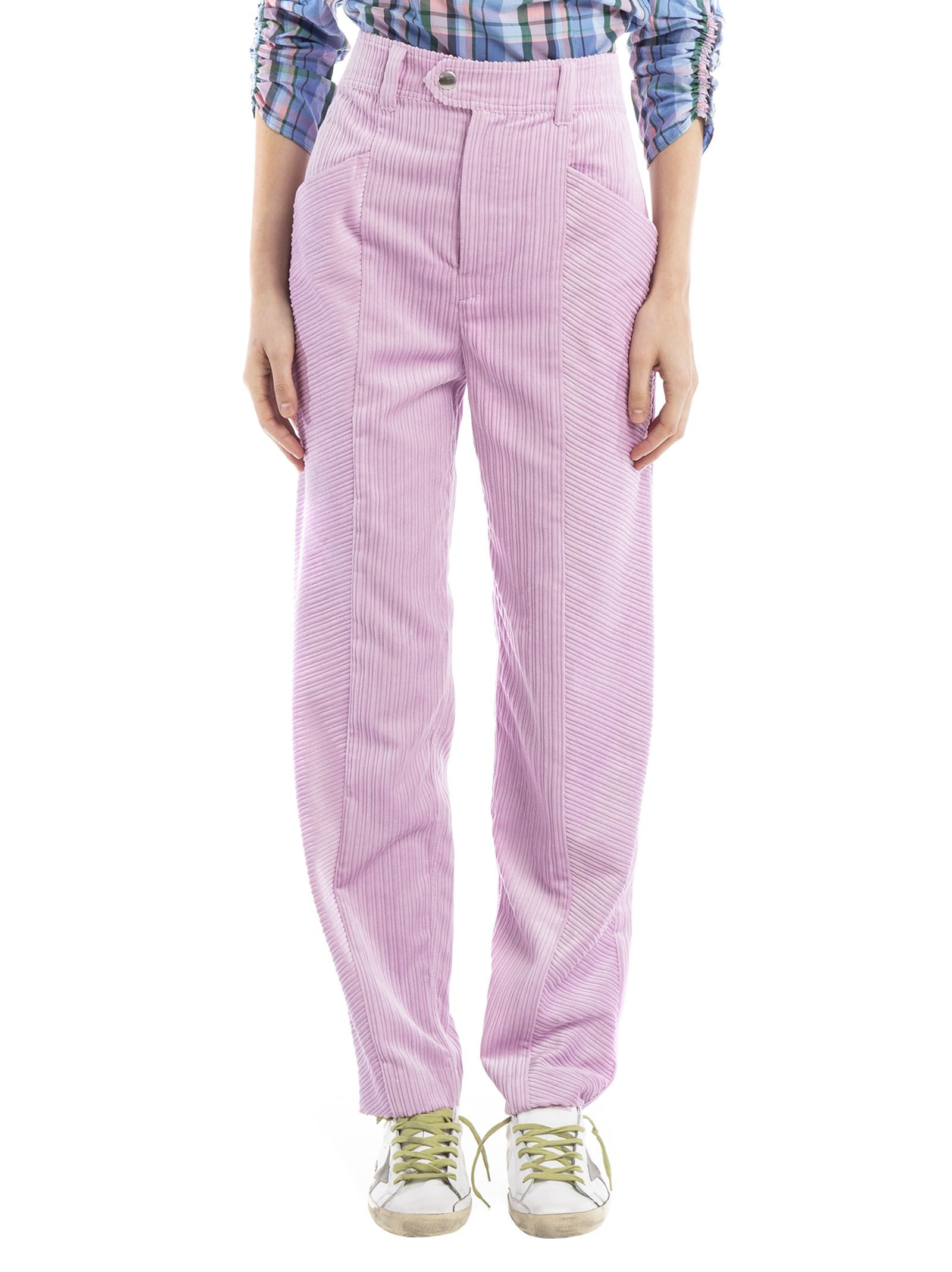 Isabel Marant High Waisted Trousers In Pink