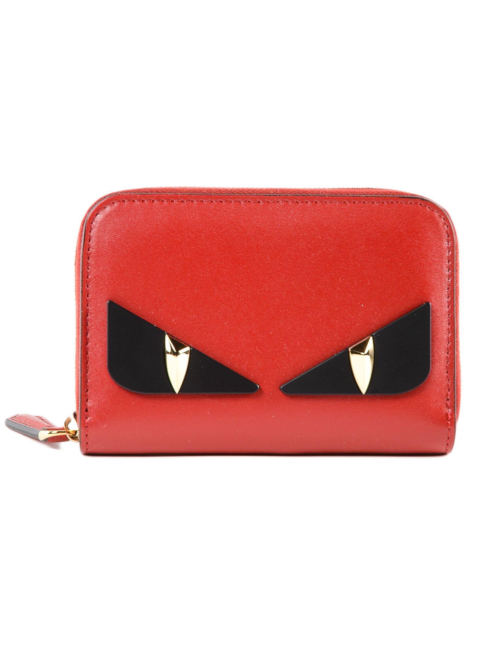 Fendi Bag Bugs Mini Zip-around Wallet