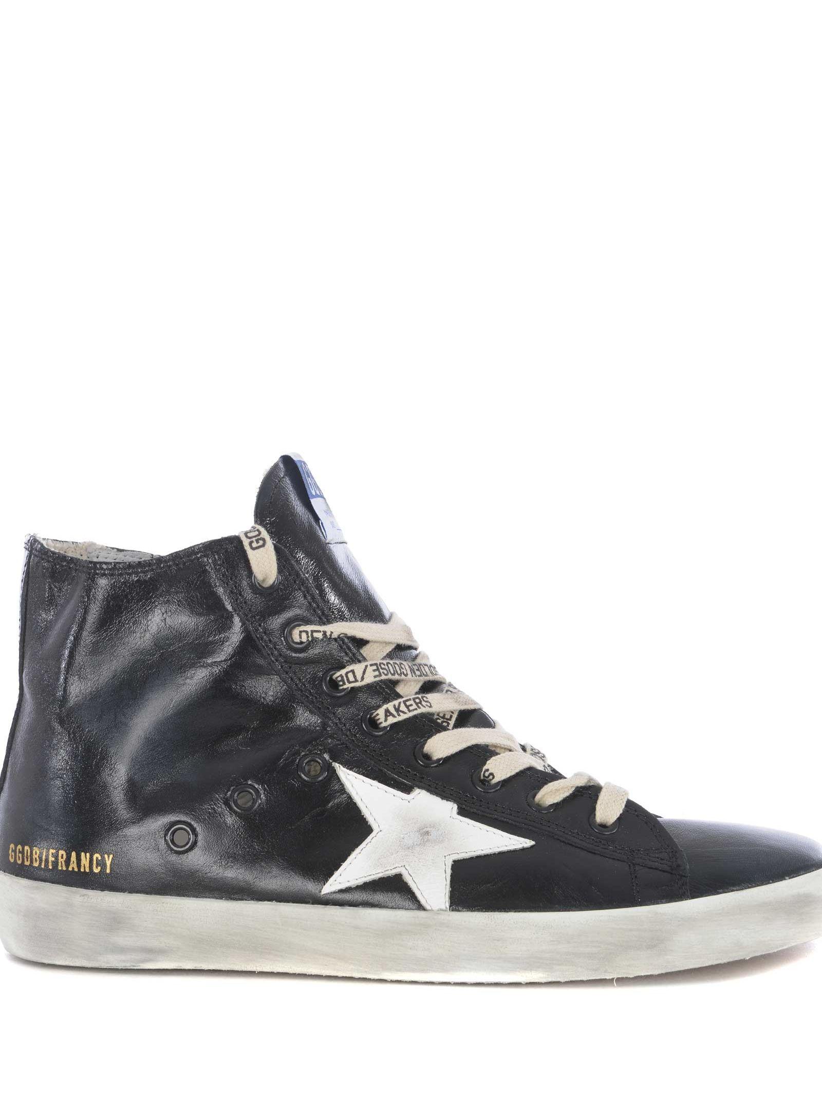 Golden Goose Star Patch Hi-top Sneakers