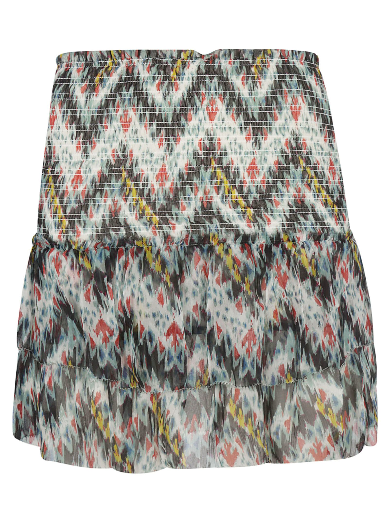 Isabel Marant Tiered Printed Skirt