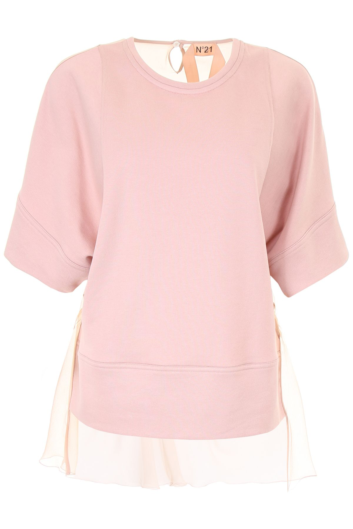 N.21 Sweatshirt With Chiffon And Lace