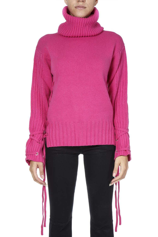 McQ Alexander McQueen Pink Wool Oversized Laced Jumper