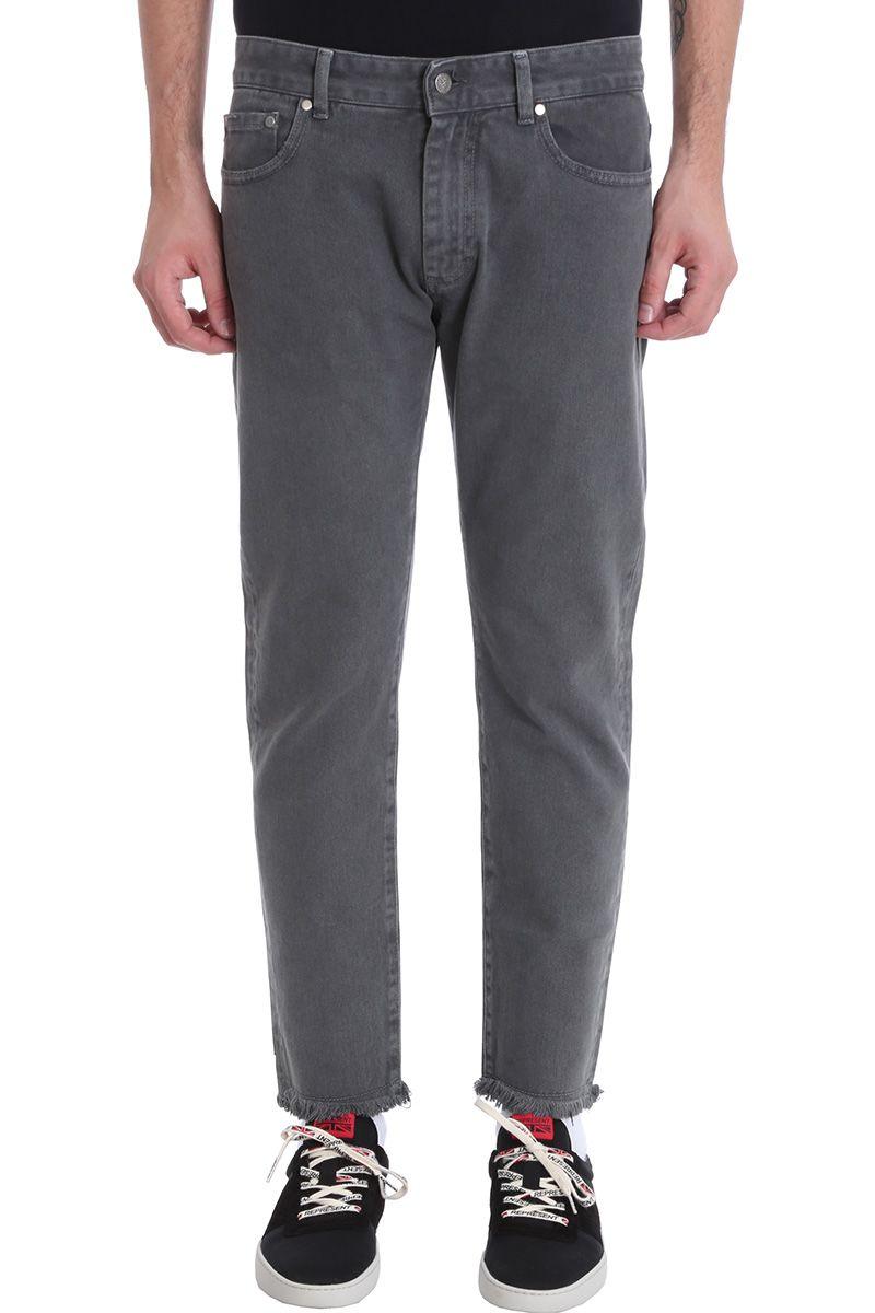 REPRESENT Relaxed Grey Smoke Denim Jeans
