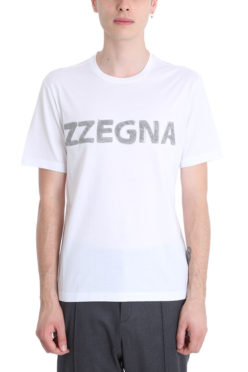 Z Zegna White Cotton T-shirt