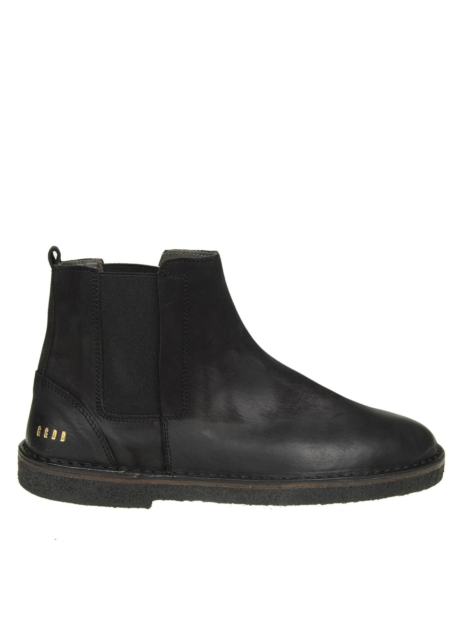"Golden Goose ""portman"" Boots In Faded Black Leather"