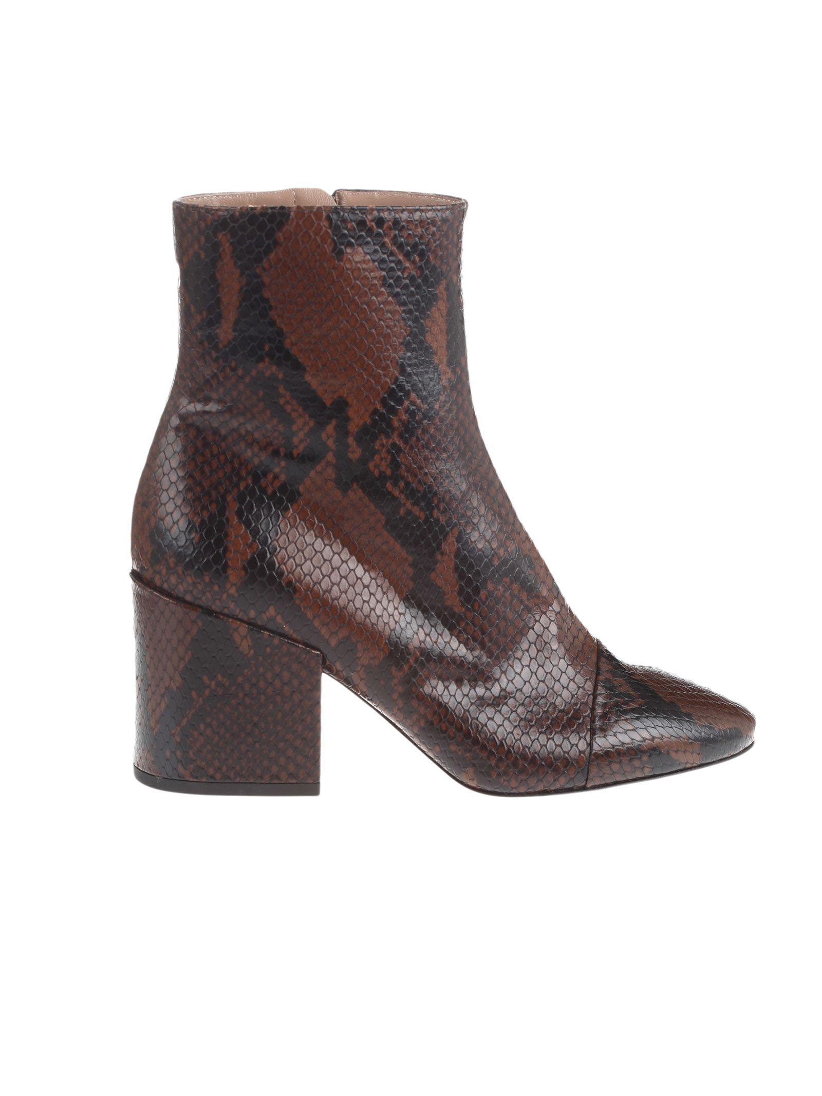 dries van noten -  Snake Print Ankle Boots