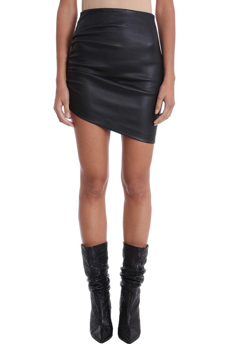 iro -  Pava Black Leather Skirt