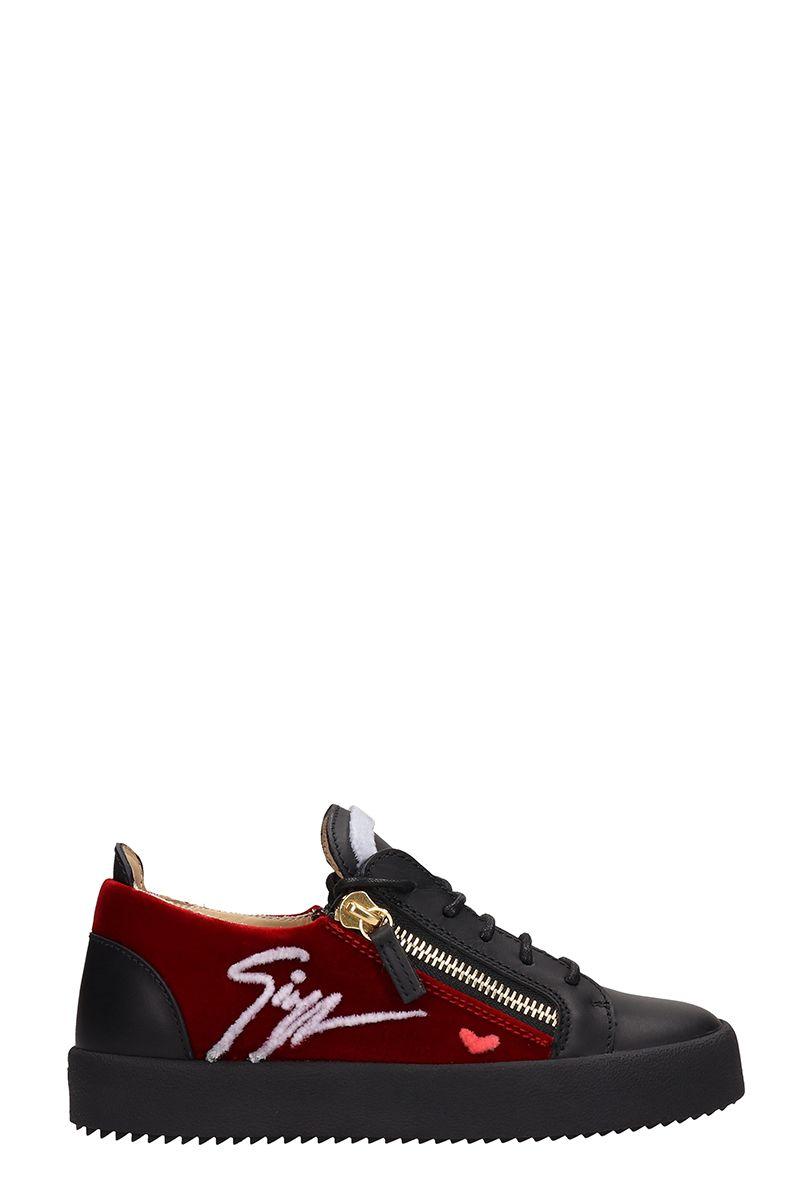 Giuseppe Zanotti Black Leather Gail Signature Sneakers