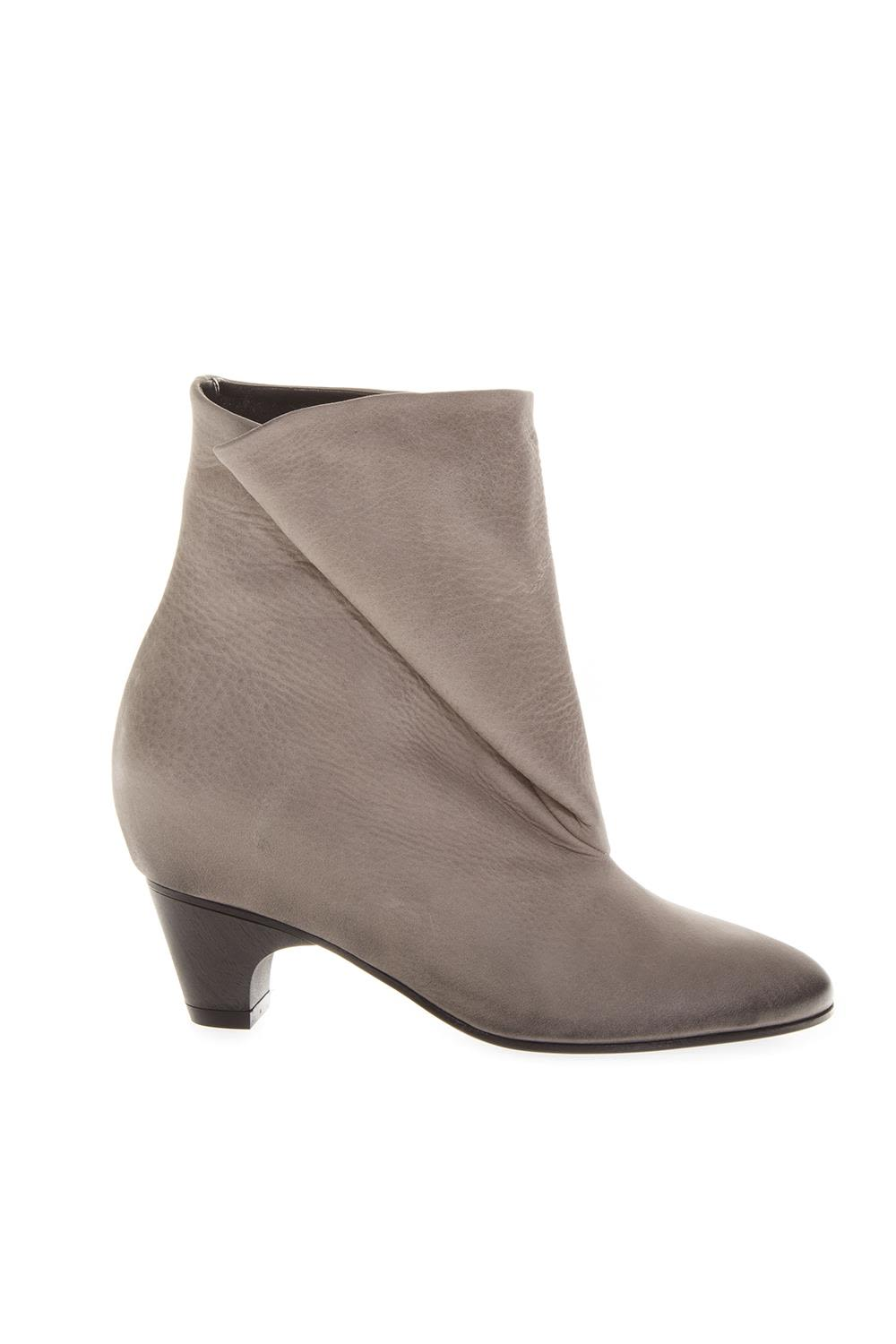 Marc Ellis Taupe Folded Leather Boots