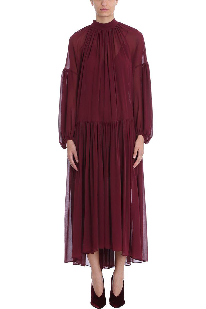 Stella McCartney Long Burgundy Dress