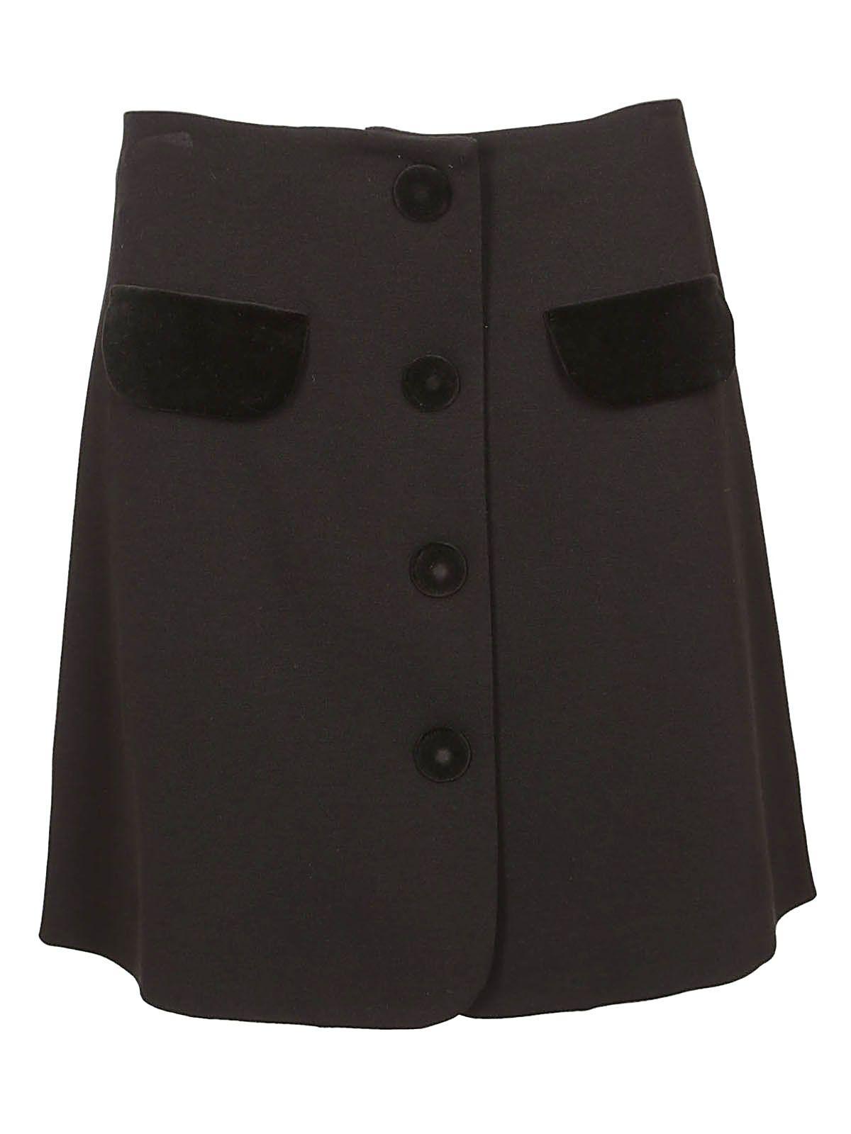 Vivetta Button-up Mini Skirt