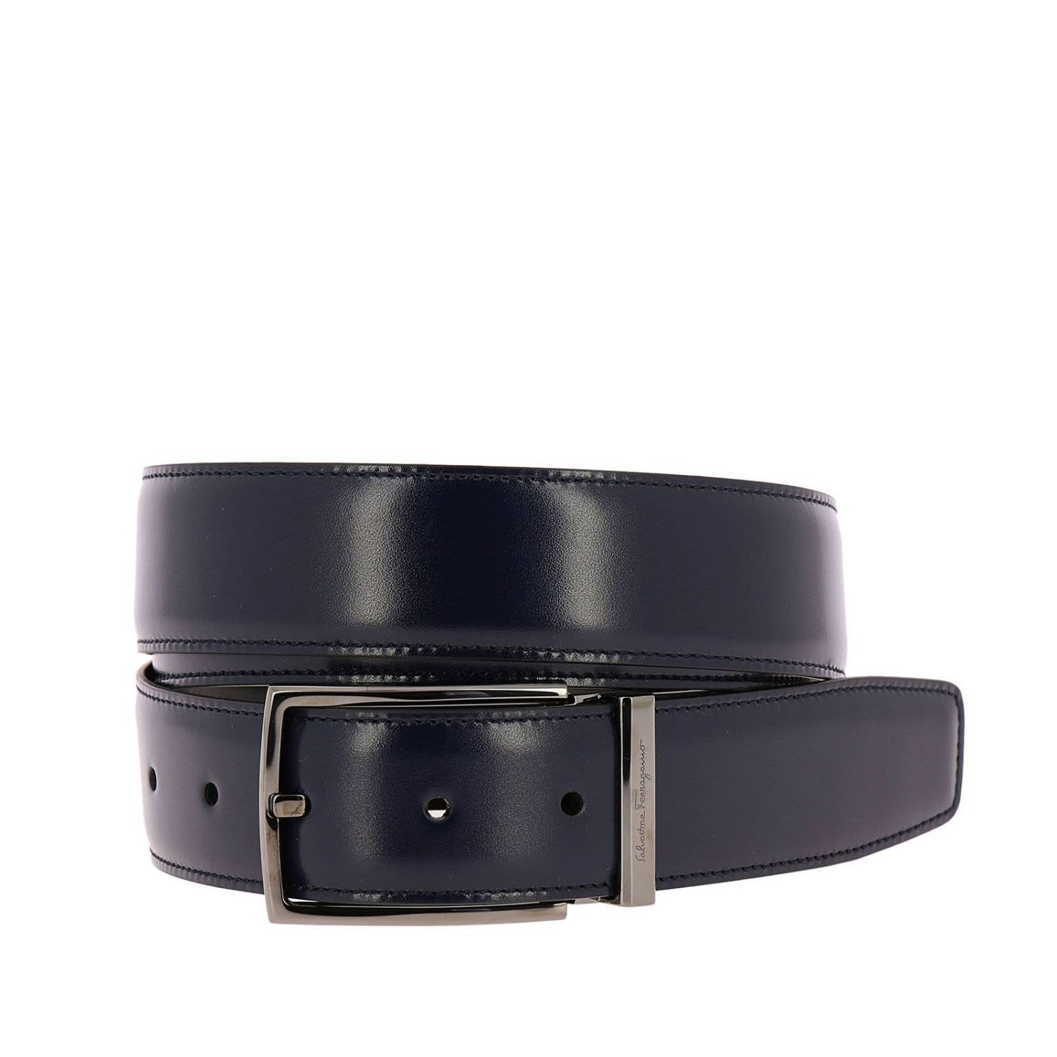 Salvatore Ferragamo Belt Ferragamo Belt Buckle In Real Leather Adjustable And Reversible With Double