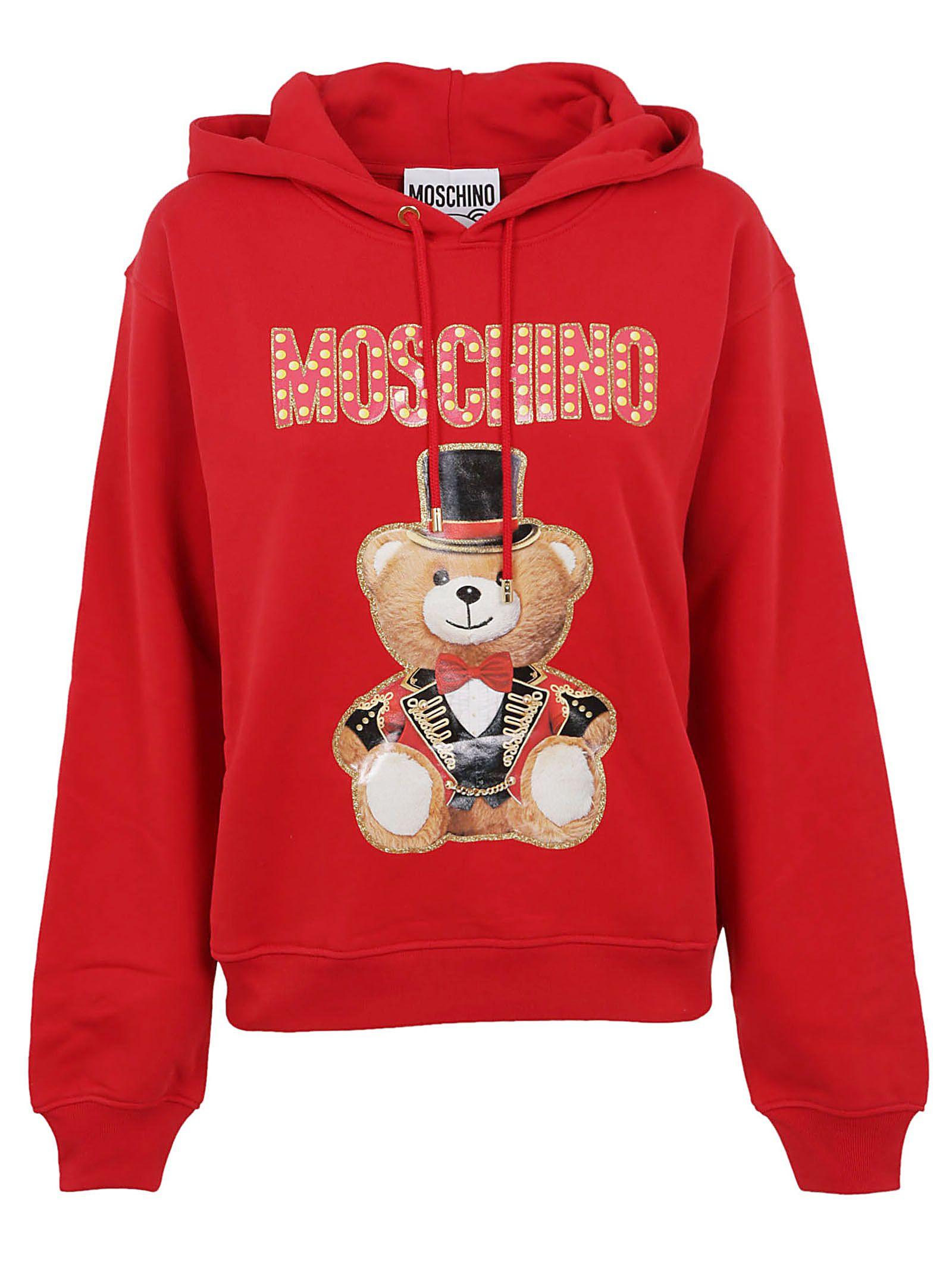 Moschino Bear And Logo Print Hoodie