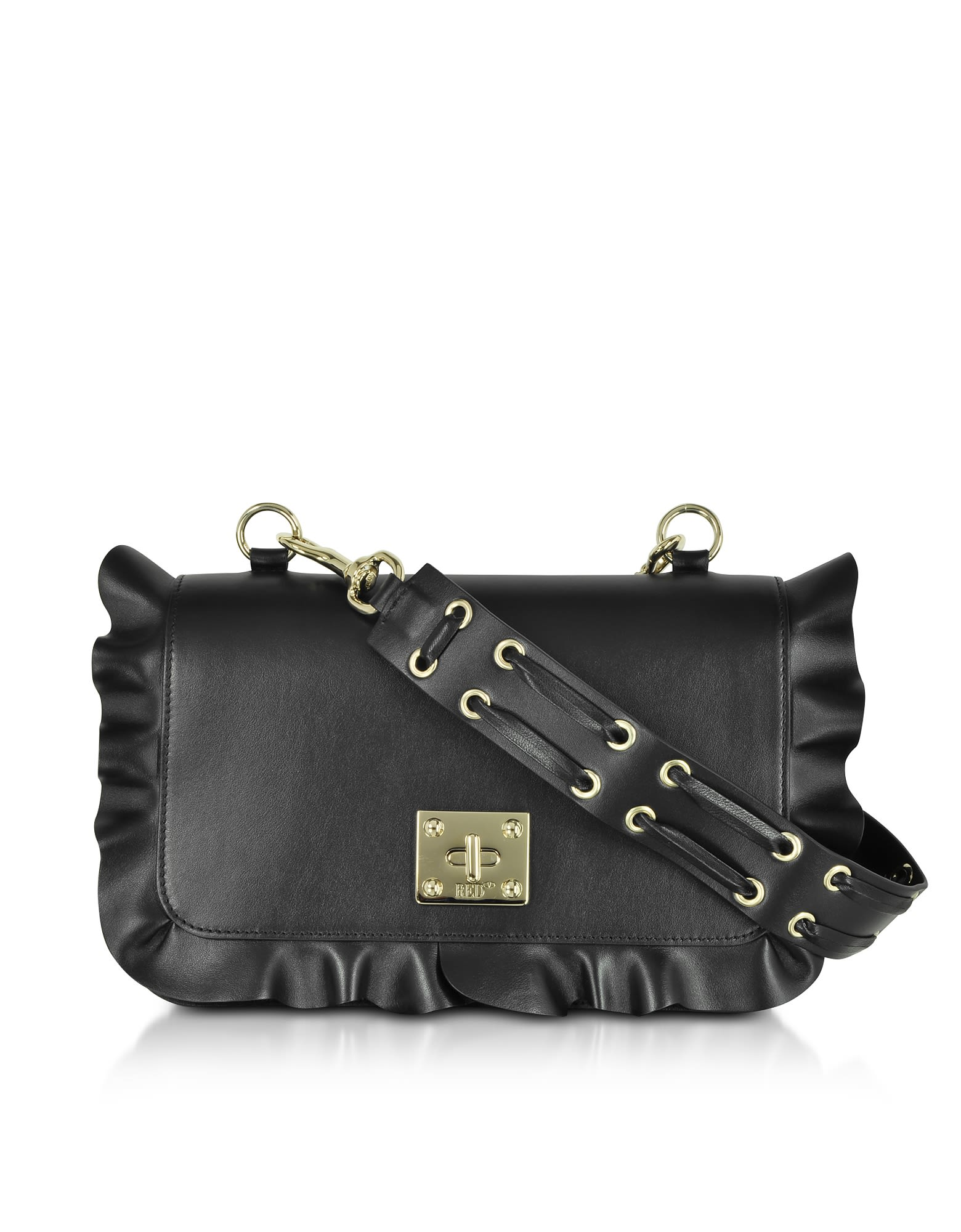 Red Valentino Rock Ruffles Shoulder Bag
