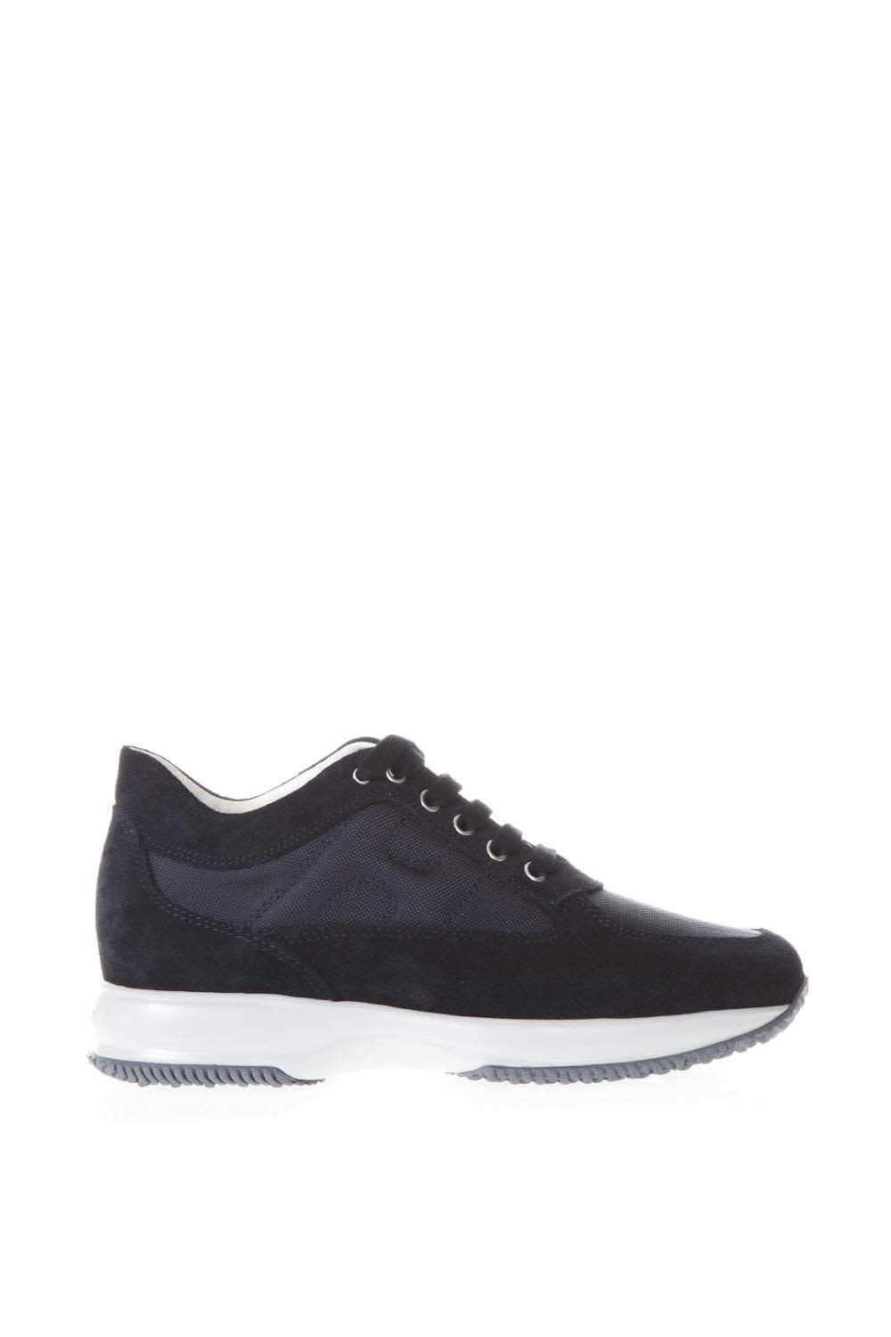 Hogan Interactive Blue Suede & Nylon Sneakers