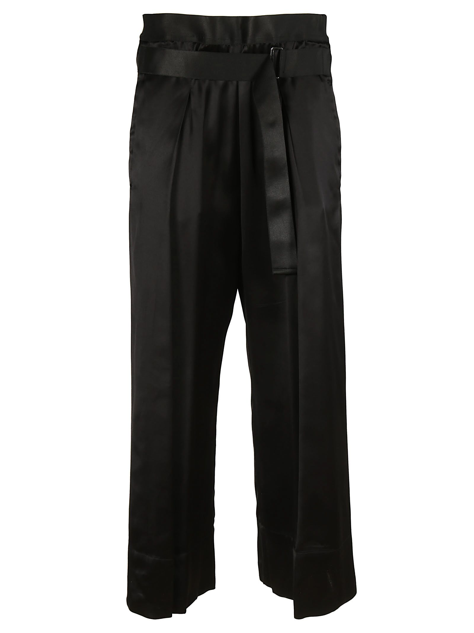Ann Demeulemeester Belted Cropped Trousers