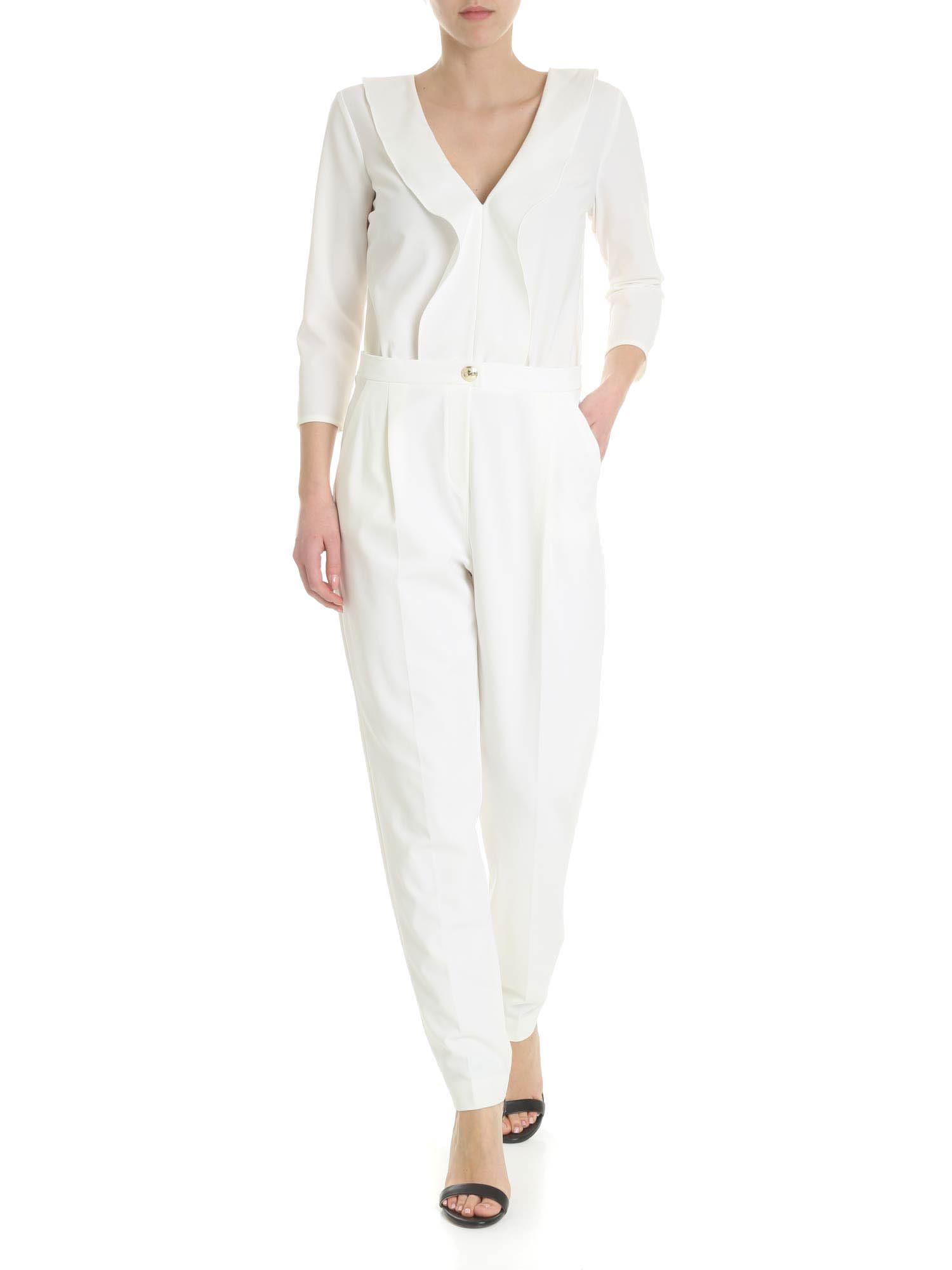 Patrizia Pepe Jumpsuit With Rouches