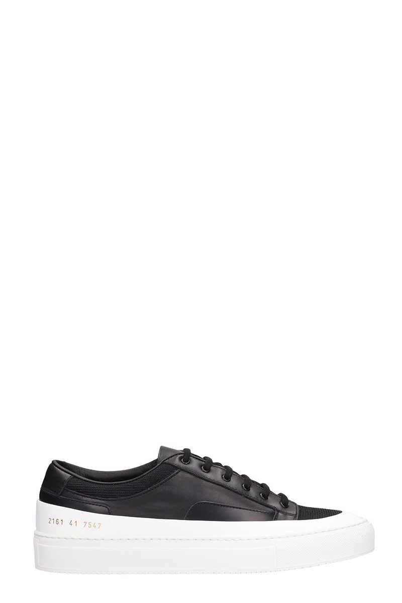 Common Projects Achilles Super Black Leather Sneakers