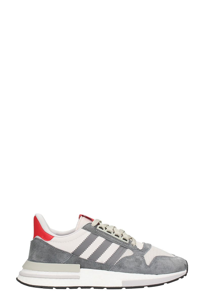 Adidas Zx 500 Rm Grey Suede And Fabric Sneakers