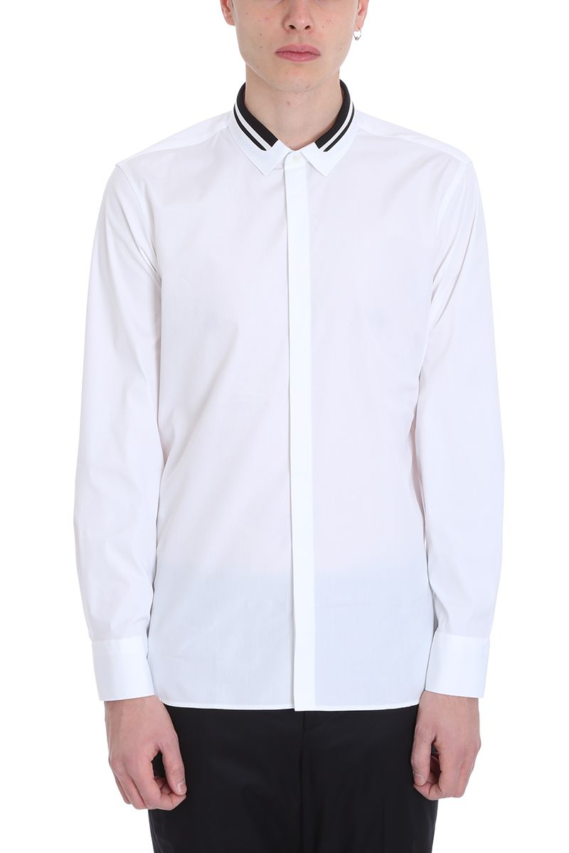 Neil Barrett White Cotton Shirt