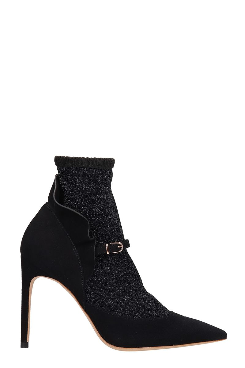 Sophia Webster Lucia Black Suede Ankle Boot