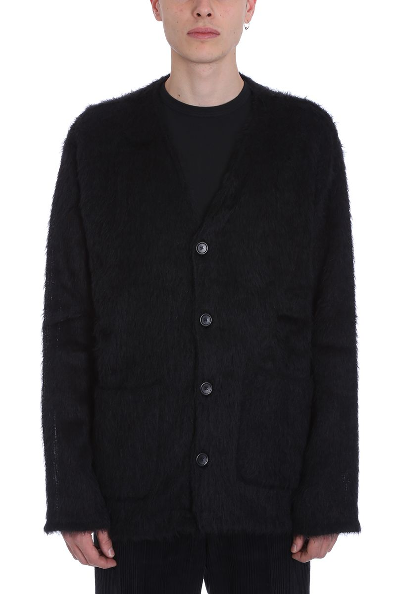 Our Legacy Mohair Black Wool Cardigan