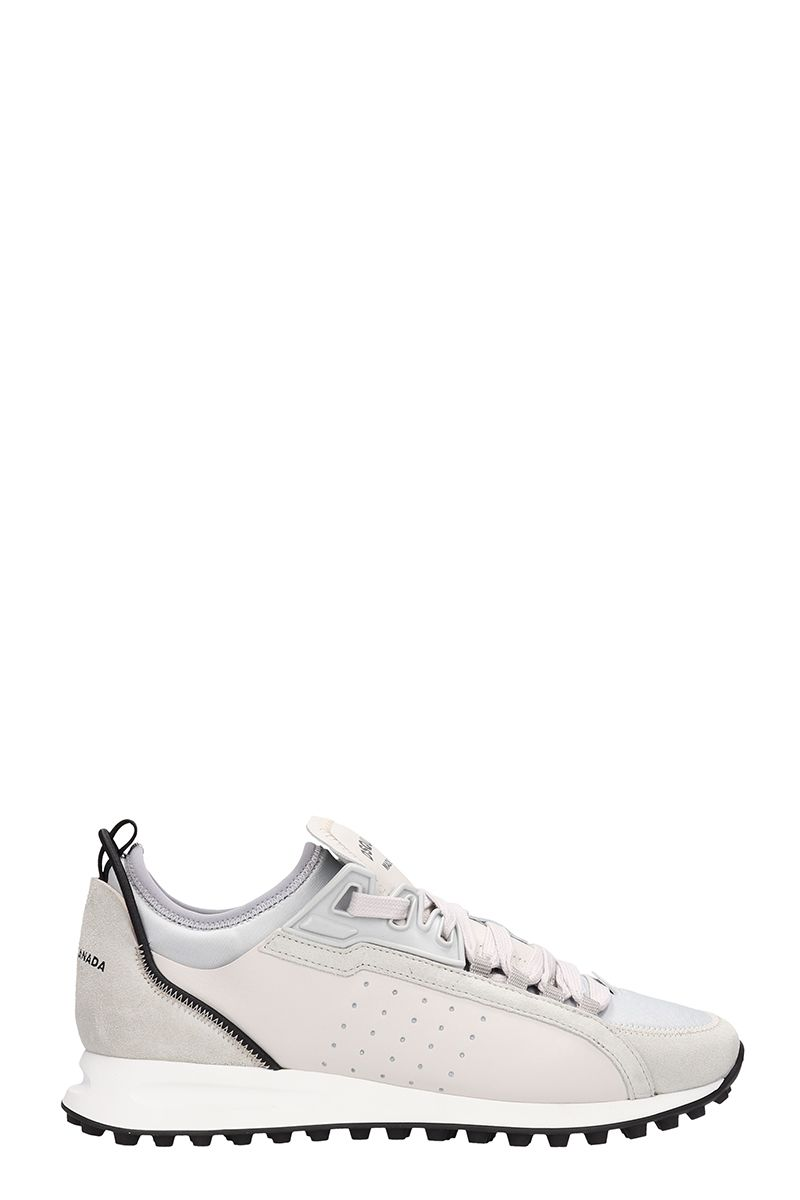 Dsquared2 Grey Leather And Suede Runner Sneakers