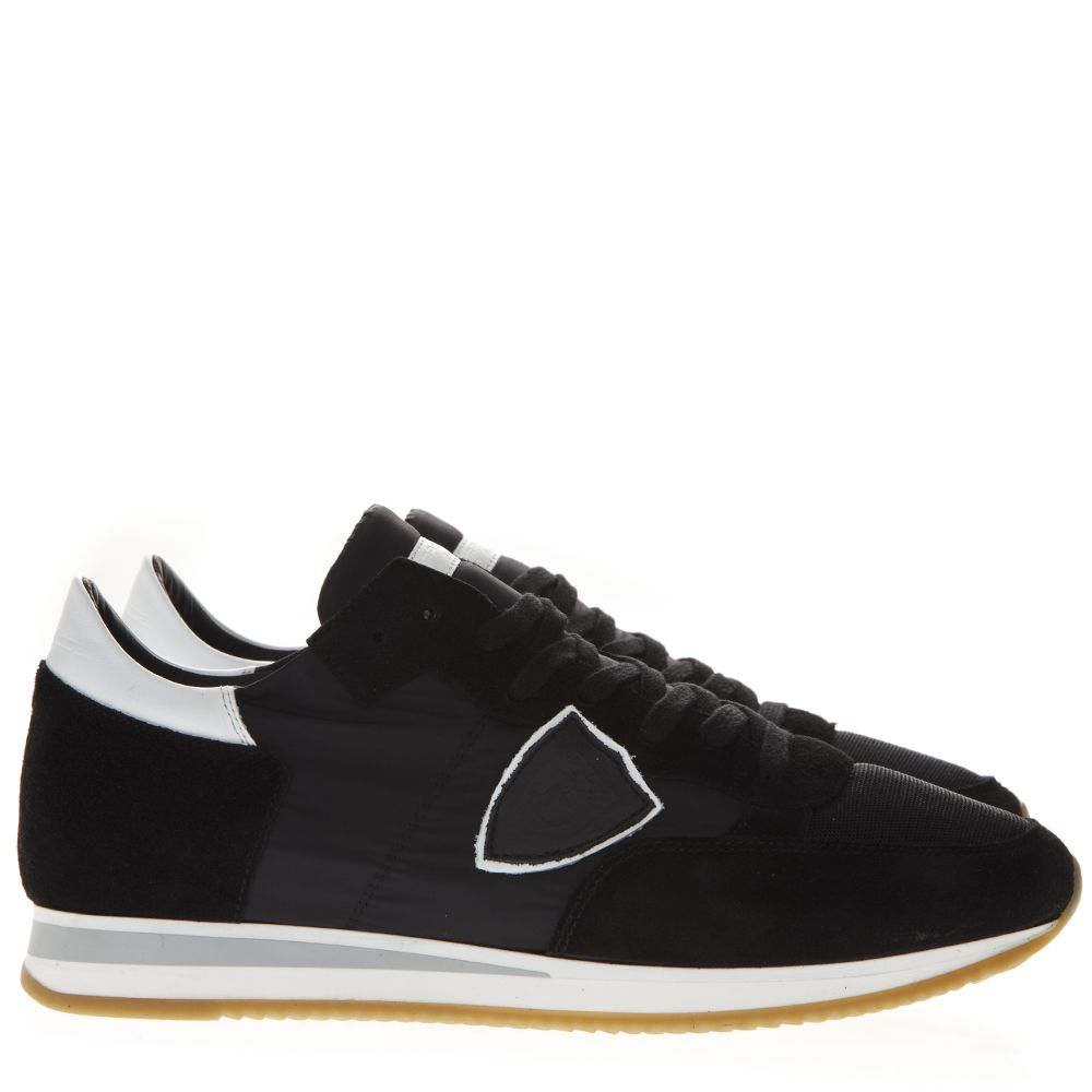 Philippe Model Black Suede & Nylon Sneakers
