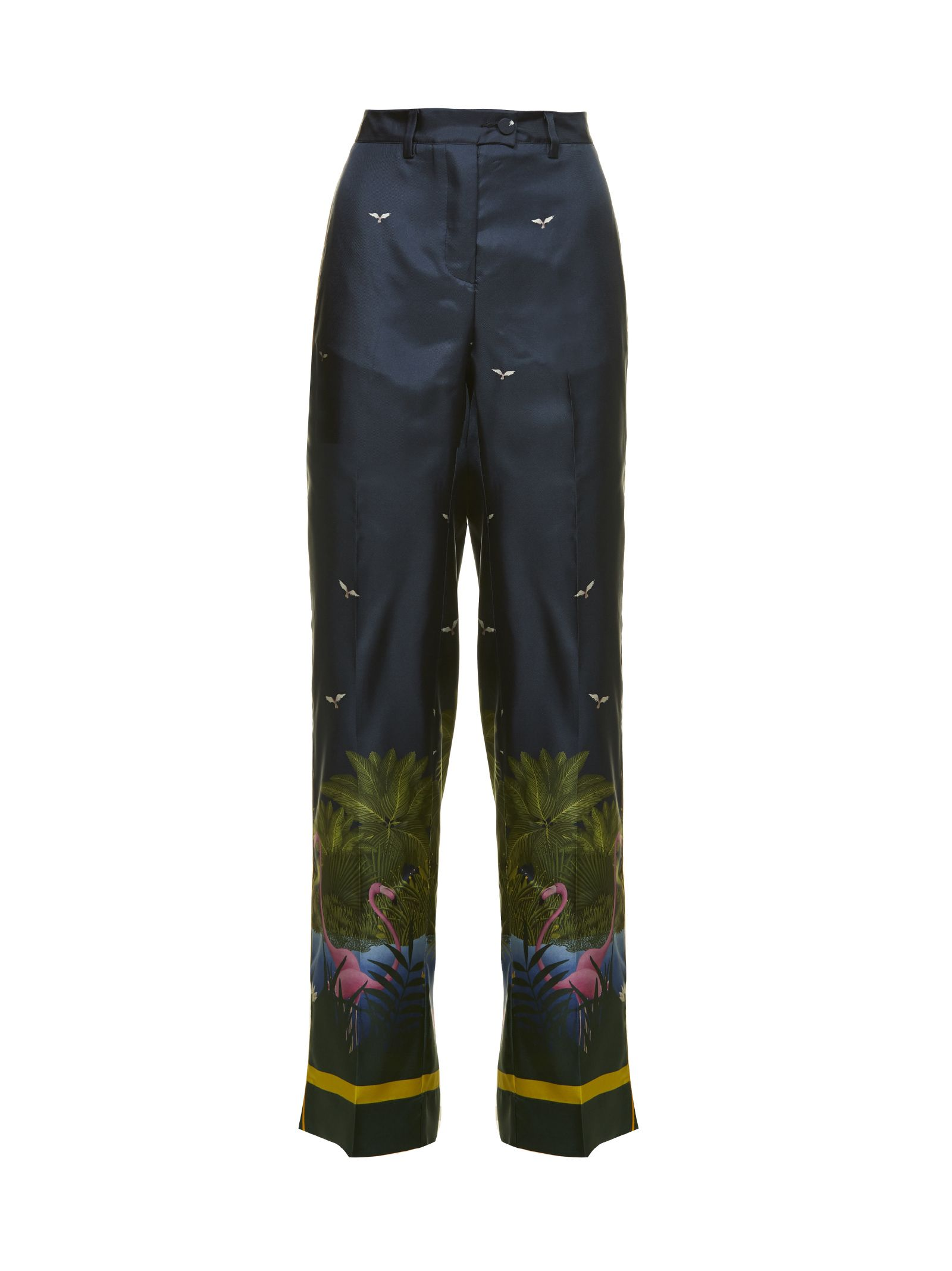 Zelos Trousers From F.r.s For Restless Sleepers: Multicolor Zelos Trousers With Belt Loops, Flared S