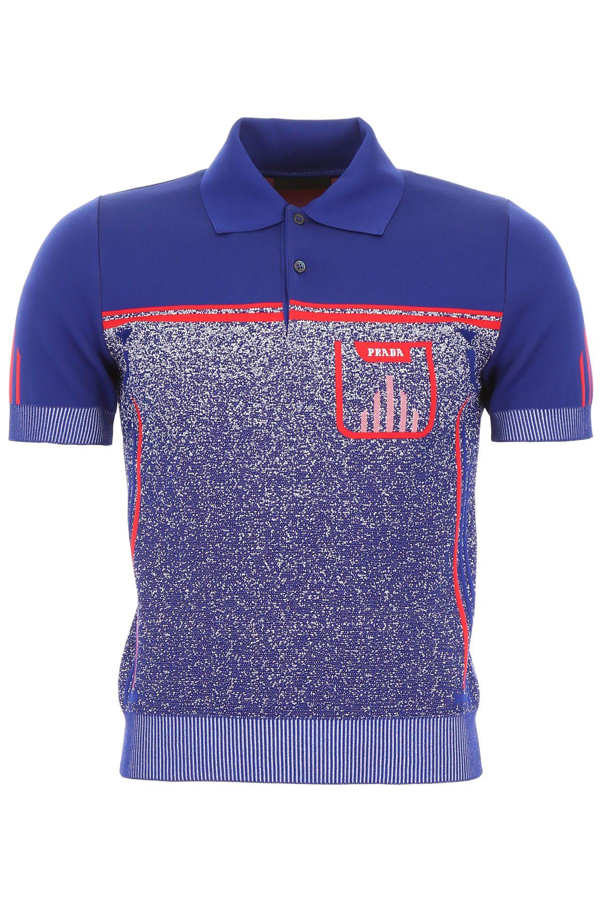Prada Mouliné Polo Shirt