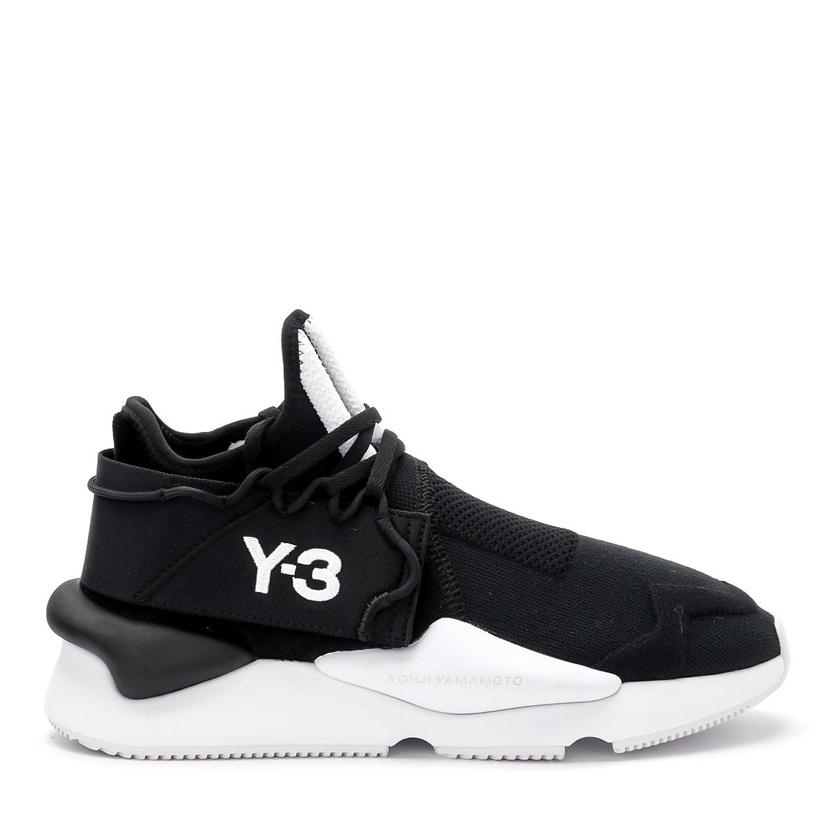 Y-3 Kaiwa Knit Black Fabric Sneaker.